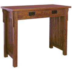 Mission Style Oak Finish Writing Desk