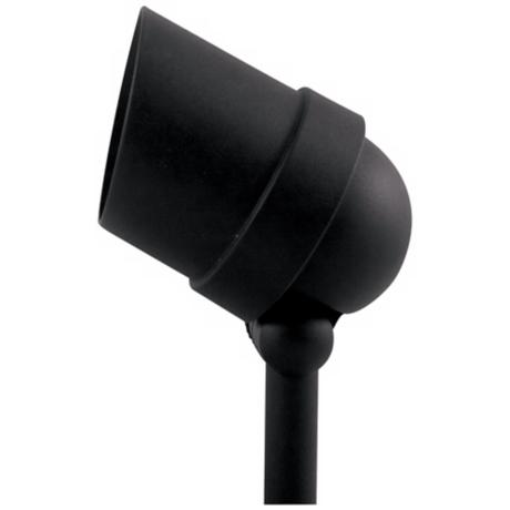 Black Hooded 50 Watt Outdoor Spot Light