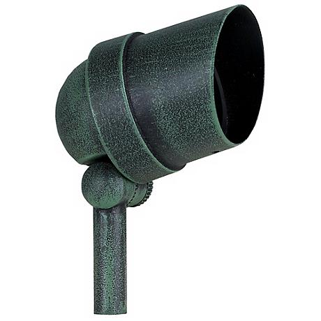Distressed Green Hooded 50 Watt Outdoor Spot Light
