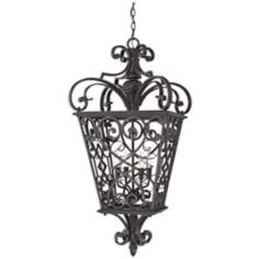 French Quarter Marcado Black Four Light Hanging Lantern