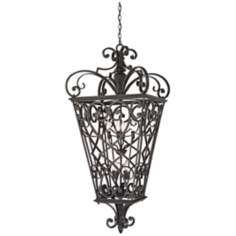 French Quarter Marcado Black Eight Light Hanging Lantern