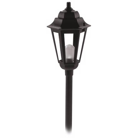 Savannah Black Finish Outdoor Landscape Post Light