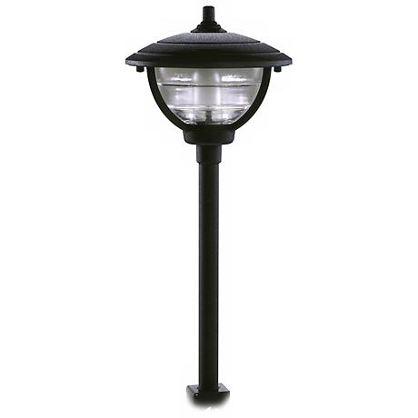 Palm Island Black Finish Post Mount Landscape Light