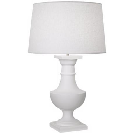 Robert Abbey Bronte White Plaster Table Lamp