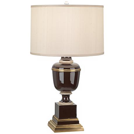 Mary McDonald Annika Chocolate Cloud Cream Shade Table Lamp