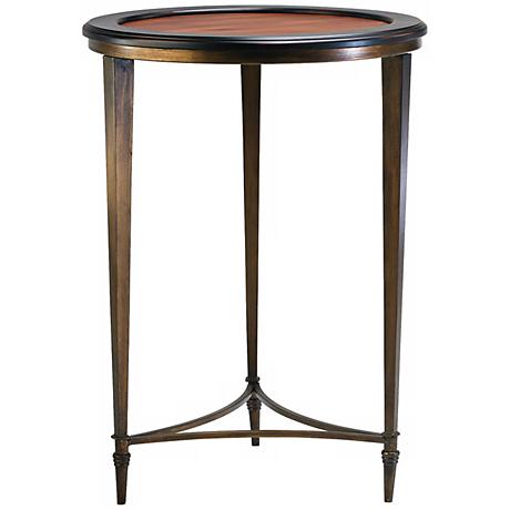 "Ebony and Mahogany 28 1/2"" High Paloma Side Table"