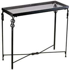 "Rustic Iron 36 1/4"" Wide Dupont Console Table"