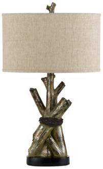 Woody Tree Trunks Rustic Table Lamp (R1458)