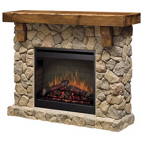 Dimplex Fieldstone Rustic Electric Fireplace