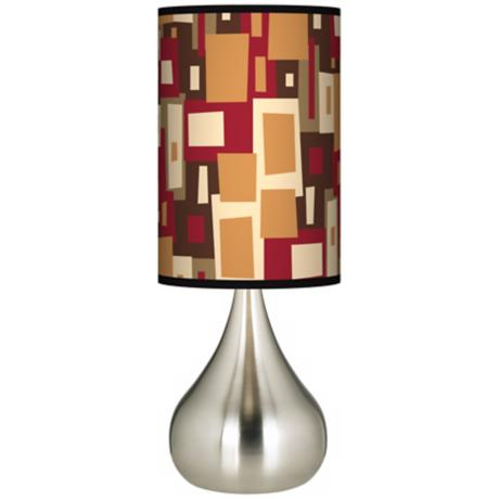 Earth Palette Giclee Big Kiss Table Lamp