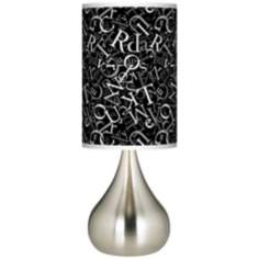 Alphasoup Grayscale Giclee Big Kiss Table Lamp