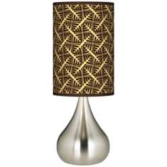 Tan Wailia Giclee Big Kiss Table Lamp