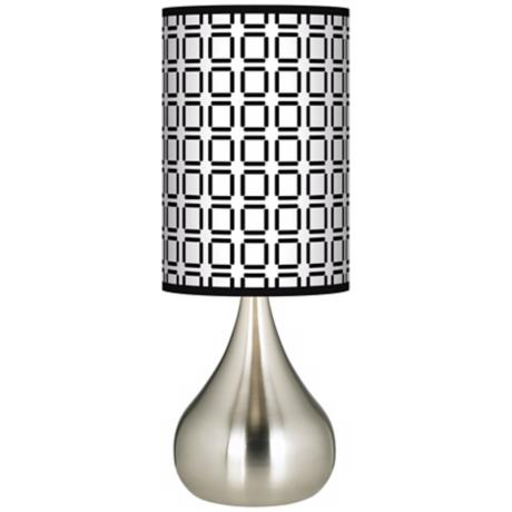 Open Grid Giclee Big Kiss Table Lamp