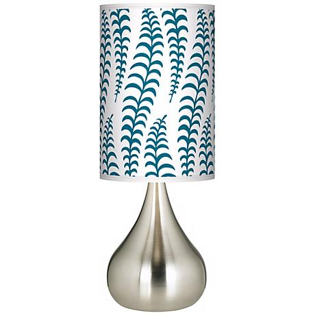 Stacy Garcia Fancy Fern Peacock Giclee Big Kiss Table Lamp