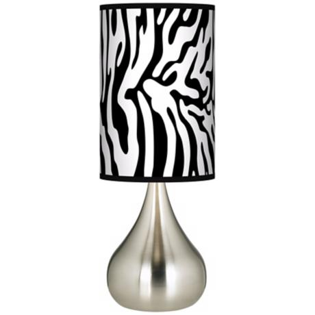 Safari Zebra Giclee Big Kiss Table Lamp