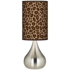 Safari Leopard Giclee Big Kiss Table Lamp