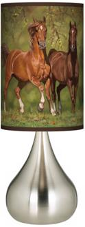 Buddies Horses Giclee Big Kiss Table Lamp (R1672-T0657)