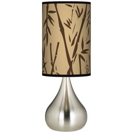 Earth Bamboo Giclee Big Kiss Table Lamp