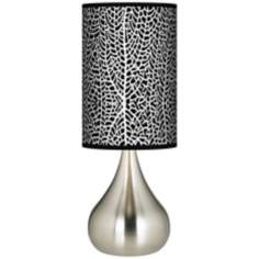 Stacy Garcia Seafan Black Giclee Big Kiss Table Lamp
