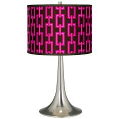 Chain Links Giclee Trumpet Table Lamp