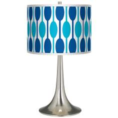 Jet Set Giclee Trumpet Table Lamp