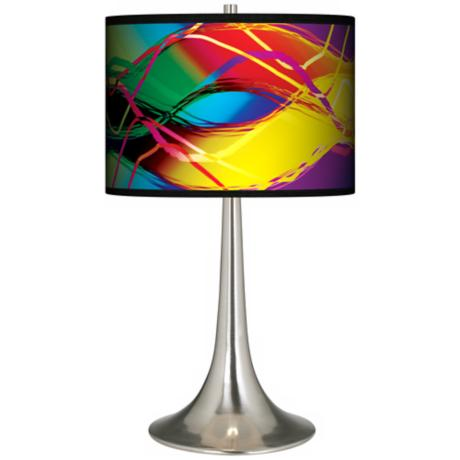 Colors In Motion (Light) Giclee Trumpet Table Lamp