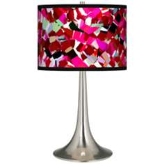 Palette Dots Giclee Trumpet Table Lamp