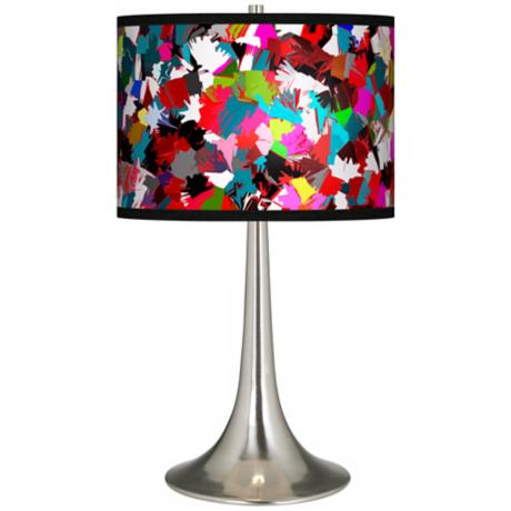Color Splatter Giclee Trumpet Table Lamp