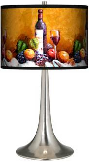 Wine And Fruit Giclee Trumpet Table Lamp (R1676-R7059)