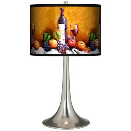 Wine And Fruit Giclee Trumpet Table Lamp