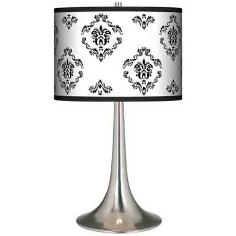 French Crest Giclee Trumpet Table Lamp