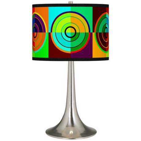Circle Parade Giclee Trumpet Table Lamp