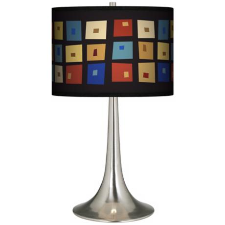 Palette Squares Giclee Trumpet Table Lamp