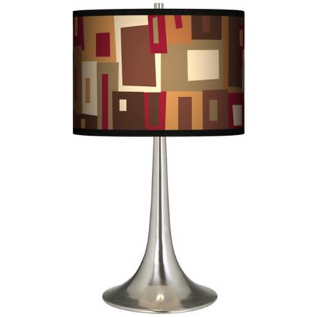 Earth Palette Giclee Trumpet Table Lamp