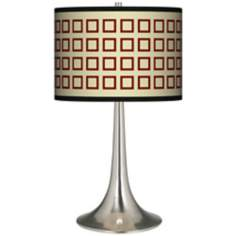 Simply Squares Giclee Trumpet Table Lamp