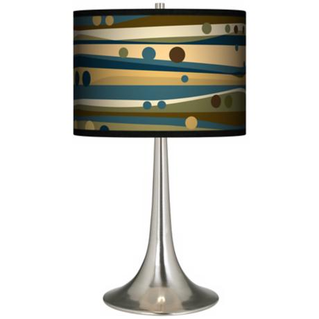 Dots and Waves Giclee Trumpet Table Lamp