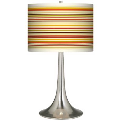 Stacy Garcia Lemongrass Stripe Giclee Trumpet Table Lamp