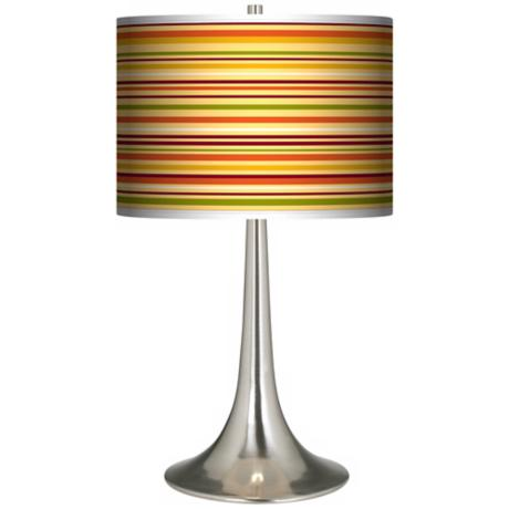 Stacy Garcia Harvest Stripe Giclee Trumpet Table Lamp
