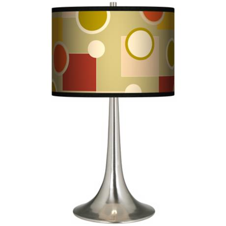Retro Citrus Medley Giclee Trumpet Table Lamp