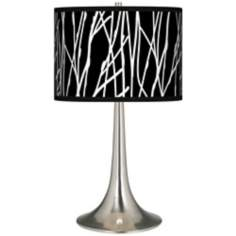 Stacy Garcia Twiggy Black Giclee Trumpet Table Lamp