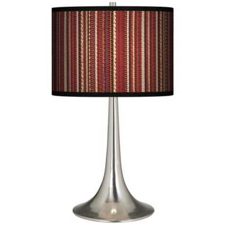 Woven Giclee Trumpet Table Lamp