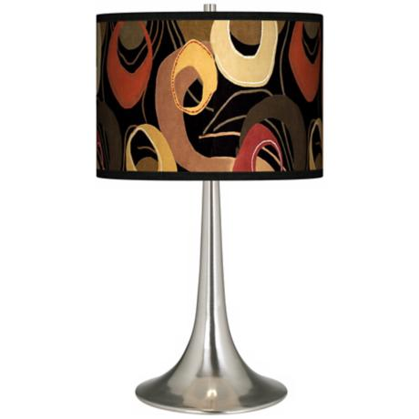 Rhythm Motif Giclee Trumpet Table Lamp