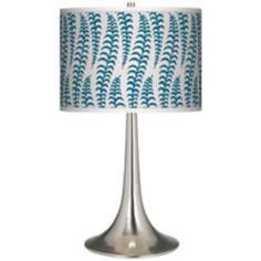 Stacy Garcia Fancy Fern Peacock Giclee Trumpet Table Lamp