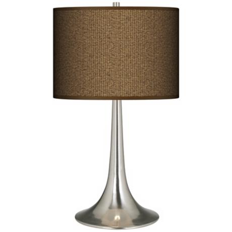 Khaki Giclee Trumpet Table Lamp
