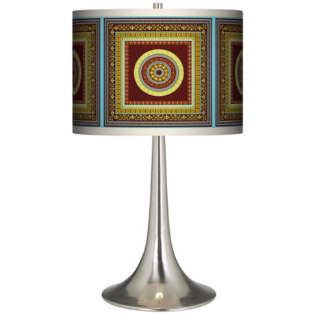 Stacy Garcia Tiber Medallion Garnet Trumpet Table Lamp