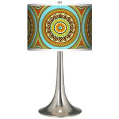 Stacy Garcia Arno Mosaic Daybreak Giclee Trumpet Table Lamp