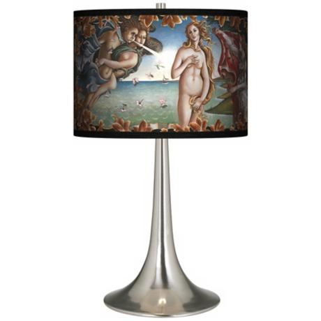 Arrival Of Venus Giclee Trumpet Table Lamp