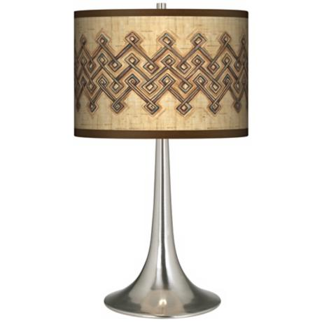 Corinthia Giclee Trumpet Table Lamp