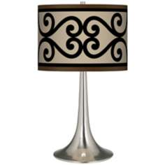 Cambria Scroll Giclee Trumpet Table Lamp