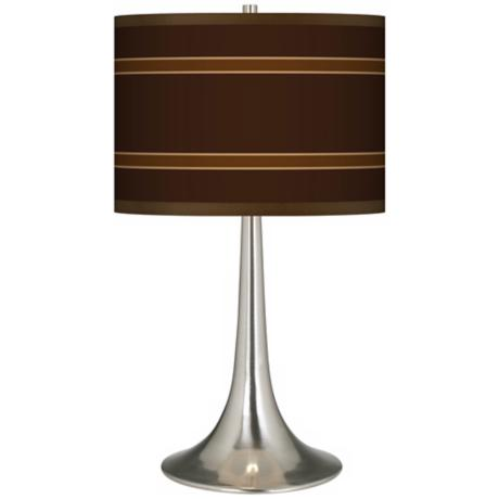 Saratoga Stripe Giclee Trumpet Table Lamp